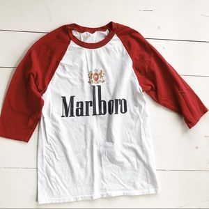 vintage style Marlboro baseball shirt
